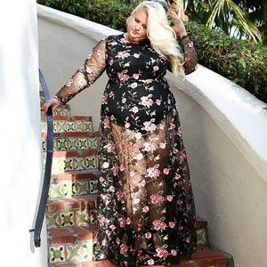Dresses & Skirts - Gown lace bodysuit under